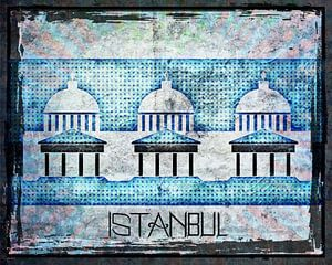 Koepels in Istanbul van Nicky`s Prints