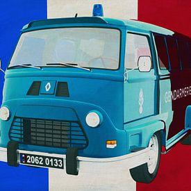Renault Estafette 800 gendarmerie 1965 met Franse vlag van Jan Keteleer