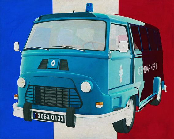 Renault Estafette 800 gendarmerie 1965 met Franse vlag