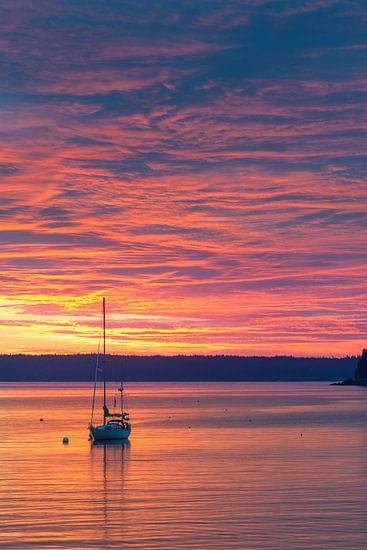 Zonsopkomst Bar Harbor, Acadia N.P, Maine.