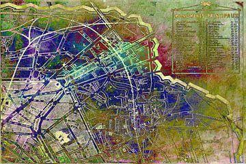 Karte von Paris von Rietje Bulthuis