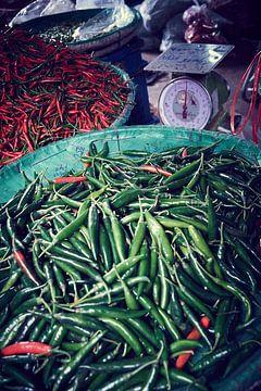 thaise pepers op markt Bangkok van Karel Ham