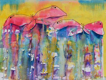 Schmetterlinge im Licht von Jessica van Schijndel