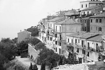 Das Stadtbild an den Hängen von Elba von Chantal Koster
