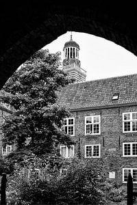 De toren van de Nicolaikerk in Utrecht