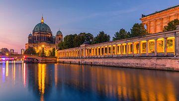 Zonsopkomst in Berlijn, Duitsland