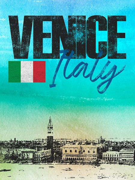 Venetië Italië van Printed Artings