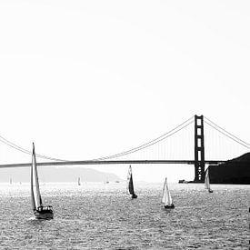Uitzicht op de Golden Gate Bridge 1 van Marit Lindberg