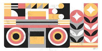 Abstracte Boombox, Robert John Paterson van Wild Apple