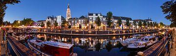 Kleurrijke zomeravond Haven Breda in panorama