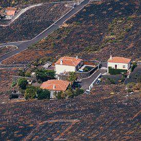 Bebouwing op de heuvels rond de vulkaan San Antonio | La Palma van Rob van der Pijll