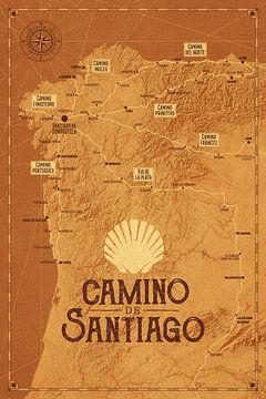 Camino de Santiago Kaart | Sint Jacobsroute van ViaMapia