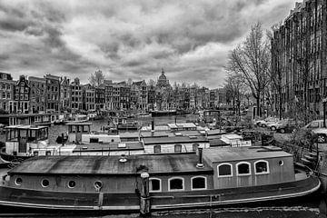 Kromme Waal und Waalseilandgracht in Amsterdam. von Don Fonzarelli