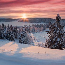 Zonsopkomst in Noorwegen van Rob Kints