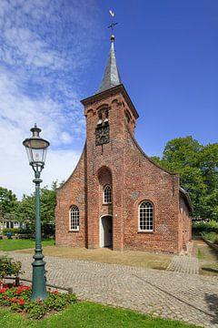 La belle chapelle Hasselt avec une lanterne verte devant sur Tony Vingerhoets