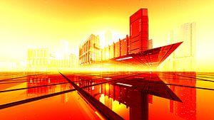 Downtown View orange