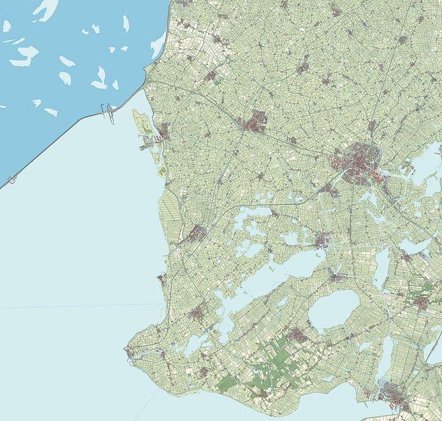 Kaart vanSúdwest-Fryslân van Rebel Ontwerp