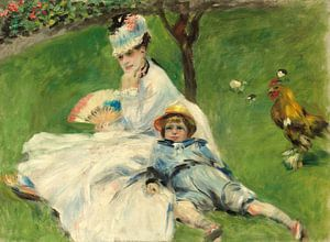 Mevrouw Monet en haar zoon, Auguste Renoir