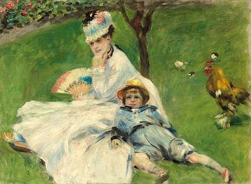 Mevrouw Monet en haar zoon, Auguste Renoir van Liszt Collection