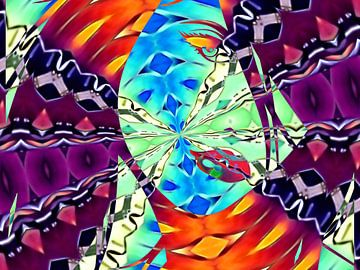 Vrouwelijke caleidoscoop in kleur van Greta Lipman