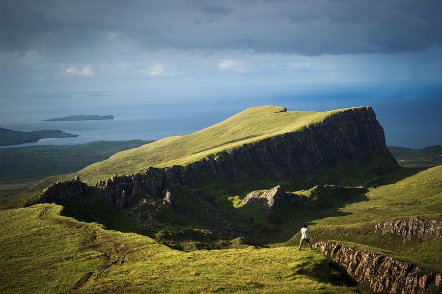 Trotternish ridge and the sea to the north