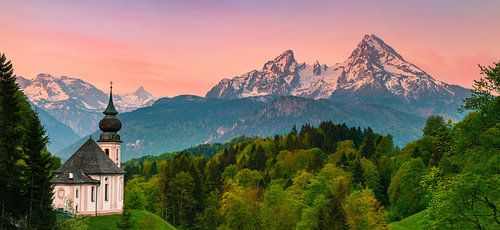 Maria Gern, Berchtesgaden, Bavaria, Germany van Henk Meijer Photography