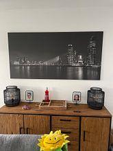 Kundenfoto: Rotterdam Panorama von Albert Mendelewski, auf leinwand