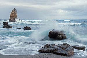 Playa de Portizuelo Asturië Spanje van