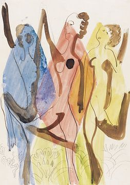 Farbentanz, ERNST LUDWIG KIRCHNER, 1932 von Atelier Liesjes