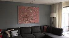 Klantfoto: Amandelbloesem van Vincent van Gogh (roze), op canvas