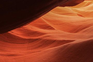 Rode steen in Antelope Canyon in Page Verenigde Staten