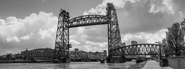 De oude hefbrug in Rotterdam (De Hef) van Arthur Scheltes
