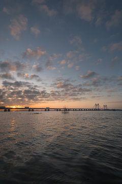 Sonnenaufgang an der Echteld-Brücke von Moetwil en van Dijk - Fotografie