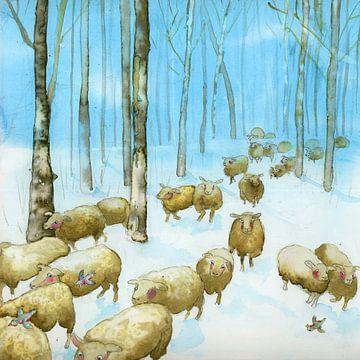 Als die Schafe nach Bethlehem gingen von Martine van Nieuwenhuyzen