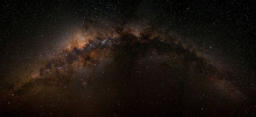 De Melkweg - Zwart - Horizontaal van Pieter Parlevliet