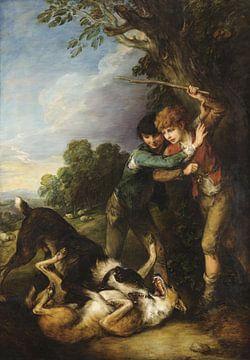 Zwei Hirtenjungen mit Hundekämpfen, Thomas Gainsborough