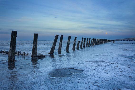 Waddenzee in winter bevroren