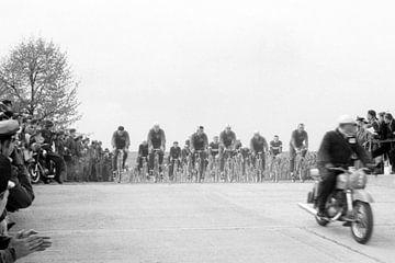 Fietsrace 1950 van Timeview Vintage Images