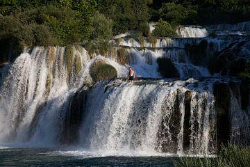 Duik van een waterval 1 van Daan Ruijter