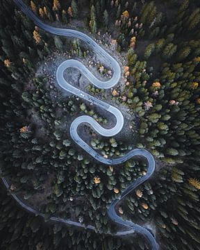 Giau-pas van bovenaf Luchtfoto van Daniel Kogler