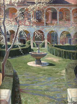 Santiago Rusiñol-verlaten tuin in Viznar, Granada