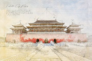 Verbotene Stadt, Peking von Theodor Decker