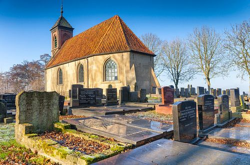 Hervormde kerk in Dorkwerd, in de provincie Groningen