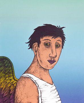 Jongen Met Vleugels van Helmut Böhm