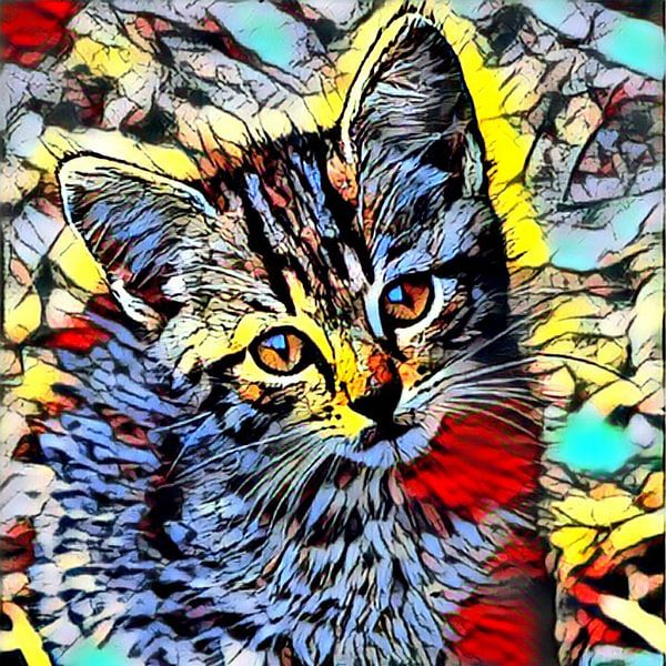 Color Kick Animal - Kitten van Angelika Möthrath