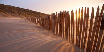 Windbrecher am Strand von Arjan van Duijvenboden