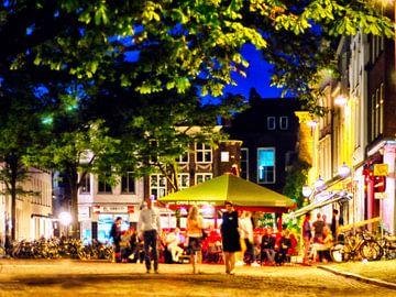 Avond bij het Stadhuisplein, Utrecht. 002. von George Ino