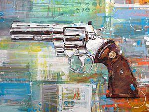 Revolver (Colt Python) schilderij von