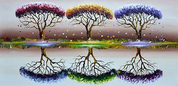 Colorful Seasons von Gena Theheartofart