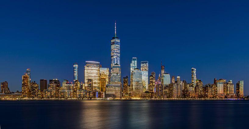 New York Blue Panorama van Adelheid Smitt